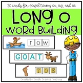 20 Long O Vowel Team (OA, OE, OW) Word Work Cards