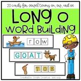 20 Long O Vowel Team (OA, OE, OW) Word Work Cards