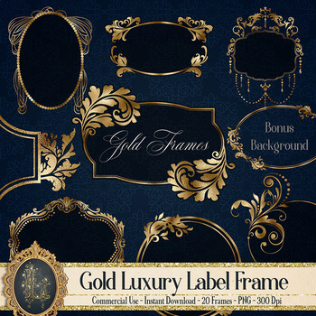 Luxury Gold Foiled Christmas Gift Tags Vintage Traditional Pack of 50