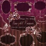 20 Luxury Rose Gold Label Frames Rose Gold Foil Royal Frames