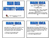 20  MAIN IDEA PRINTABLE ACTIVITY TASK CARDS   Grade 2-3