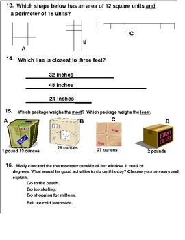20  MATH LEARNING CENTER MEASUREMENT TASK CARDS   Grades 2-3