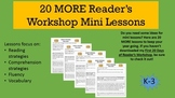 20 MORE Reader's Workshop or Reading Workshop Mini Lessons K-3