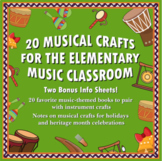 20 MUSIC CRAFTS FOR THE ELEMENTARY MUSIC CLASSROOM