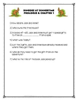 #20 Magic Tree House- Dingoes at Dinnertime Novel Study