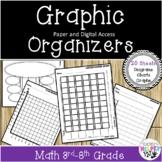 20 Math | Graphic Organizers | Grades 3rd-8th | & Digital