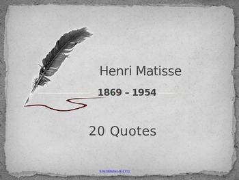 20 Matisse Quotes