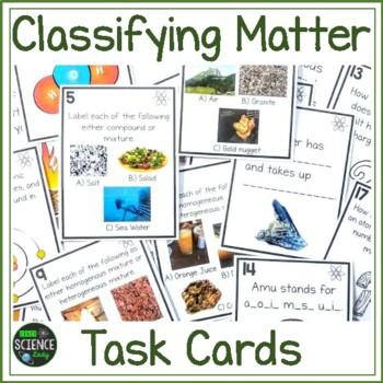 20 Matter Task Cards