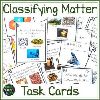 Classifying Matter Task Cards