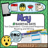 20 May Reading Passages - Daily Writing Prompts - Emojis -Google Classroom