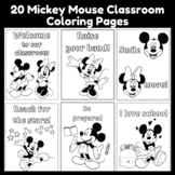 20 Mickey & Minnie Mouse Classroom Coloring Pages