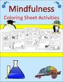 20 Mindfulness/ Growth Mindset Coloring Sheet Brain Breaks!