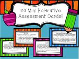 20 Mini Formative Assessment Card!
