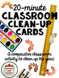 20-Minute Classroom Clean-Up Task Cards: End of the School Year!
