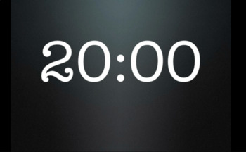 20 minute countdown timer with minute and half clean up time added