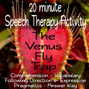 20 Minute Every-Goal Speech Therapy Activity--Venus Fly Trap
