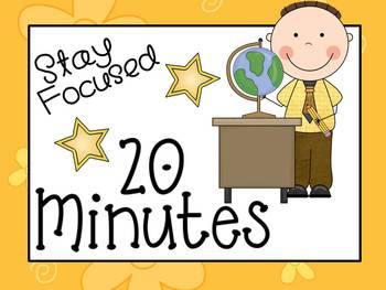 20 Minute Literacy Station Timer