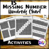 Hundreds Chart 15 Missing Numbers Distance Learning Worksheets