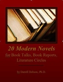 20 Modern Novels for Book Reports, Book Talks, and Literature Circles
