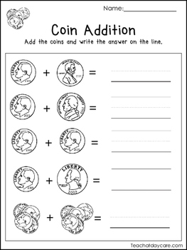 20 money worksheets coin addition paper money addition money counting kdg 1s. Black Bedroom Furniture Sets. Home Design Ideas