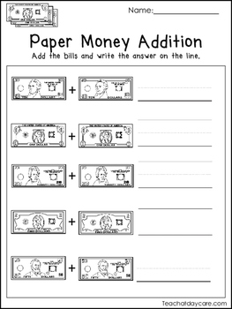 20 Money Worksheets Coin Addition Paper Money Addition