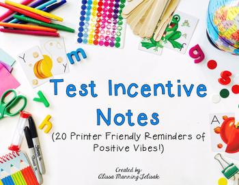 24 Motivational Test Notes (Incentives)