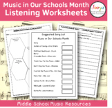 Music in Our Schools Month Listening Worksheets
