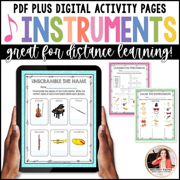 Musical Instrument Quick Quizzes for Music Students {Vivid Glitter}