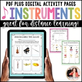 Musical Instrument Worksheets & Crossword Puzzles for Elem