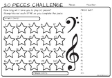 20 Musical Piece Challenge Chart and Award