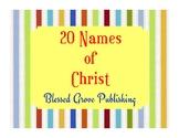 20 Names of Christ
