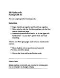 20 Naming Acids Flashcards/Memory Game