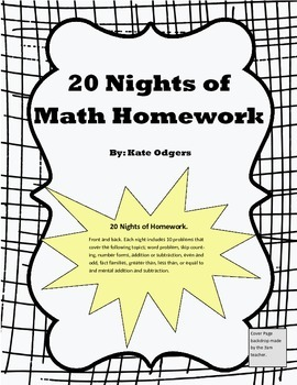 20 Nights of Math Homework