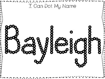 20 No Prep Bayleigh Name Tracing and Activities. Non-editable. Preschool-KDG Han