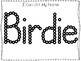 20 No Prep Birdie Name Tracing and Activities. Non-editable. Preschool-KDG Handw