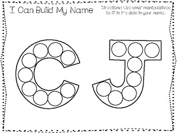 20 No Prep CJ Name Tracing and Activities. Non-editable. Daycare Name Activity.