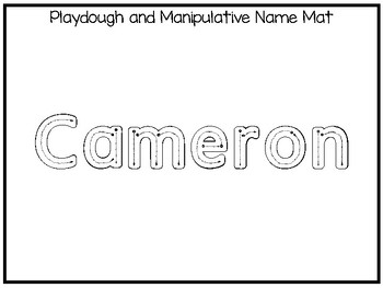 20 No Prep Cameron Name Tracing and Activities. Non-editable. Daycare Name Activ