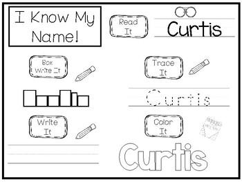 20 No Prep Curtis Name Tracing and Activities. Non-editable. Daycare Name Activi