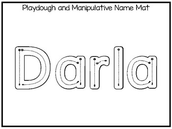 20 No Prep Darla Name Tracing and Activities. Non-editable. Preschool-KDG Handw