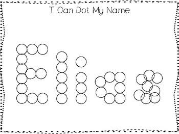 20 No Prep Elias Name Tracing and Activities. Non-editable. Preschool-KDG Handwr