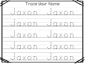 20 No Prep Jaxon Name Tracing and Activities. Non-editable. Daycare Writing Acti