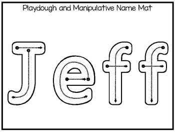 20 No Prep Jeff Name Tracing and Activities. Non-editable. Daycare Writing Activ