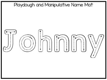 20 No Prep Johnny Name Tracing and Activities. Non-editable. Daycare Writing Act