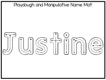 20 No Prep Justine Name Tracing and Activities. Non-editable. Daycare Writing Ac
