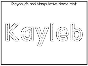 20 No Prep Kayleb Name Tracing and Activities. Non-editable. Preschool-KDG Hand