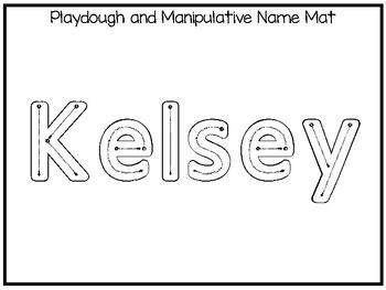 20 No Prep Kelsey Name Tracing and Activities. Non-editable. Preschool-KDG Handw
