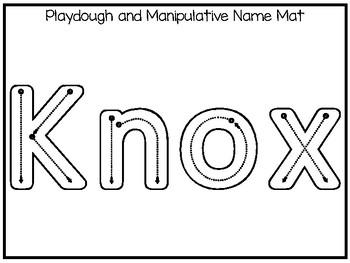 20 No Prep Knox Name Tracing and Activities. Non-editable. Preschool-KDG Handwri
