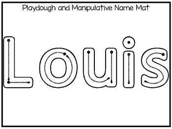 20 No Prep Louis Name Tracing and Activities. Non-editable. Daycare Handwriting