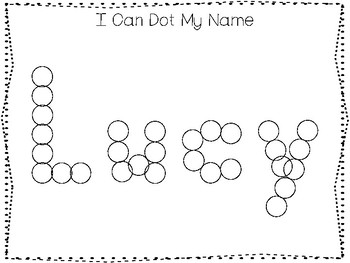 20 No Prep Lucy Name Tracing and Activities. Non-editable. Daycare Handwriting