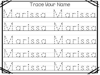 20 No Prep Marissa Name Tracing and Activities. Non-editable. Preschool-KDG Hand